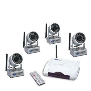 VSWR24C4 2.4Ghz Wireless System Kit With 4 Camera and 1 Receiver